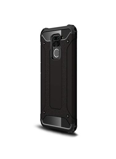Microsonic Xiaomi Redmi Note 9 Kılıf Rugged Armor Siyah